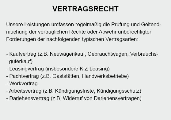 Vertragsrecht aus 70173 Stuttgart
